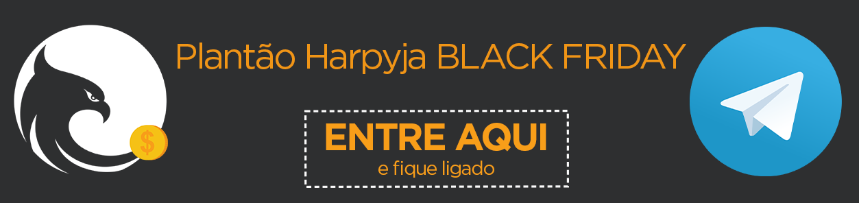Plantão da Harpyja no Telegram para a Black Friday